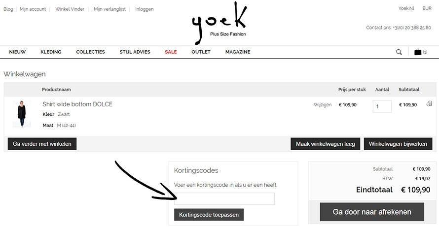 Yoek Kortingscode